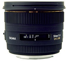 Sigma 50mm f/1.4 EX DG HSM for Sony