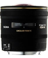 Sigma 4,5mm F2.8 Fish Eye circulaire DC EX HSM for Nikon